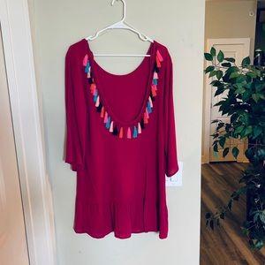 Dresses & Skirts - ✨NWOT Fun Magenta Bell Sleeve Dress✨